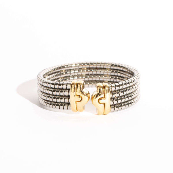 Pre-Owned Bvlgari Tubogas Cuff