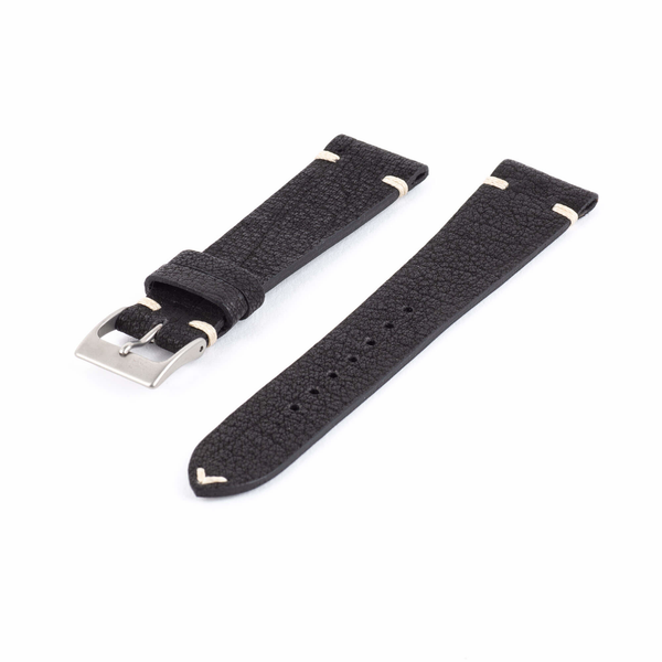 Black Leather Watch Strap