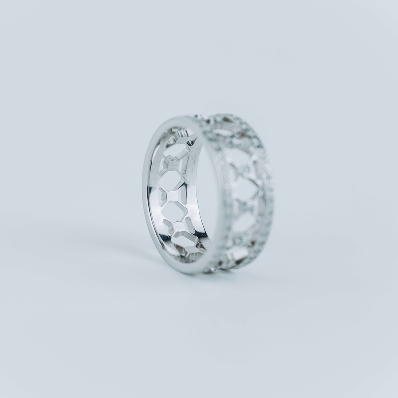 PRE-OWNED TIFFANY & CO. PLATINUM VOILE RING