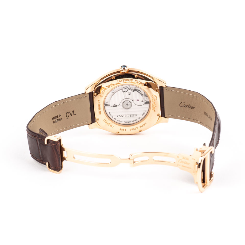 PRE-OWNED CERTIFIED 18KRG DRIVE DE CARTIER WATCH