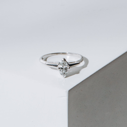 Pre-owned 0.45 carat marquise solitaire engagement ring