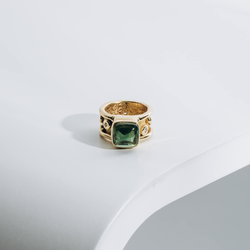 PRE-OWNED DENISE ROBERGE TOURMALINE AND DIAMOND RING