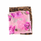 Pre-owned Dolce & Gabbana Floral and Leopard Scarf