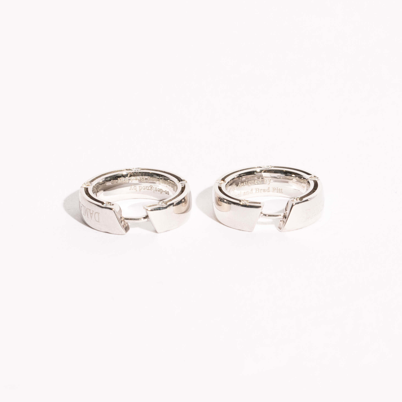 Pre-Owned Damiani Diamond Hoop Earrings