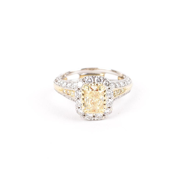 Pre-Owned Christopher Designs Fancy Yellow Diamond Ring