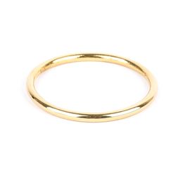Pre-Owned 23K Yellow Gold Solid Bangle