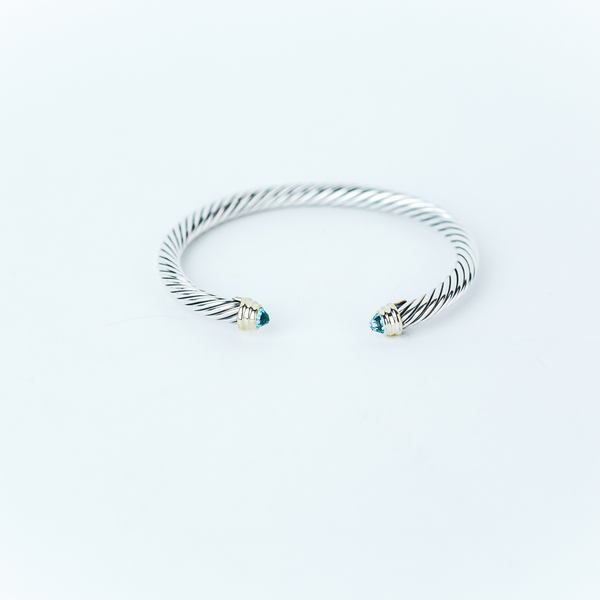 Pre-Owned Blue Topaz David Yurman Cuff