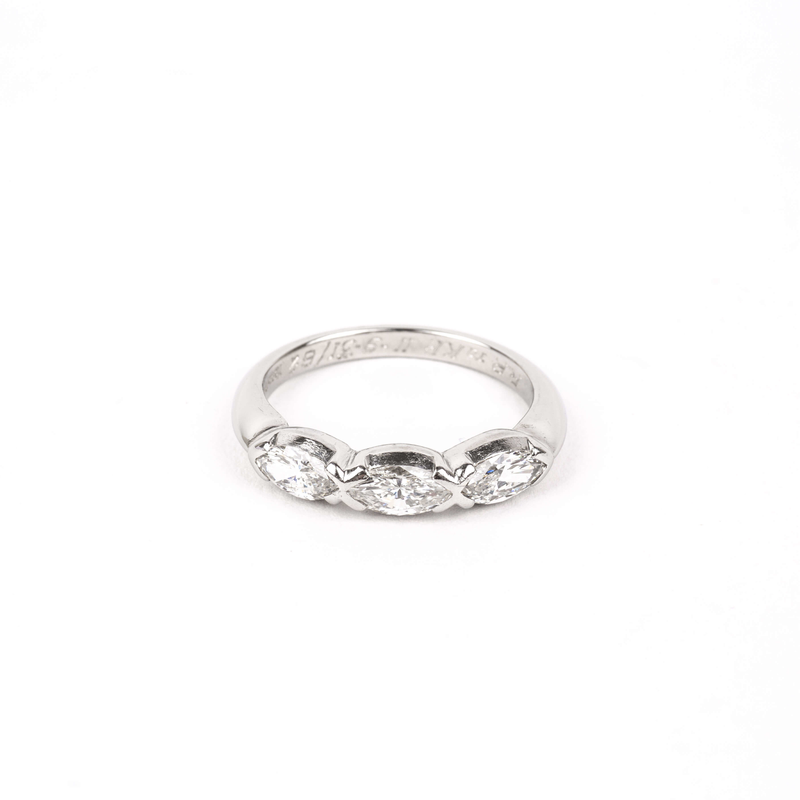 Pre-Owned Three Stone Diamond Band