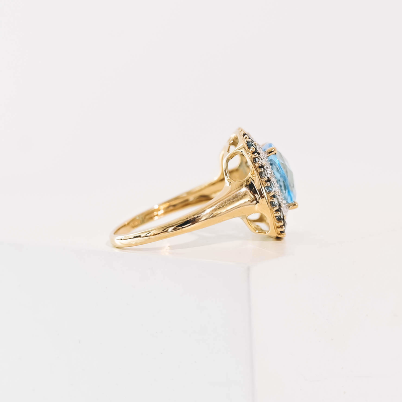 Pre-Owned Topaz and Diamond Ring