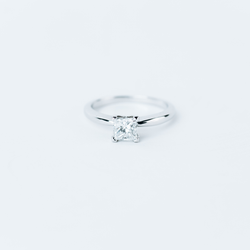 Pre-Owned Princess Cut Engagement Ring