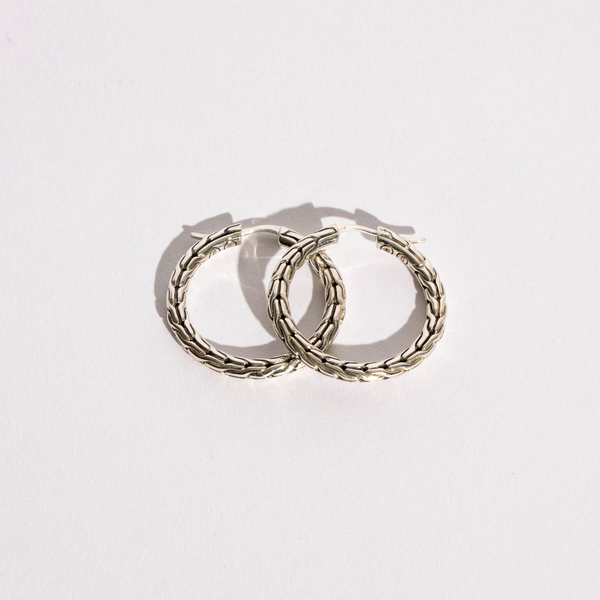 Pre-Owned John Hardy Classic Chain Hoop Earrings
