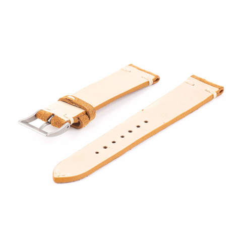 Amber Brown Suede Watch Strap