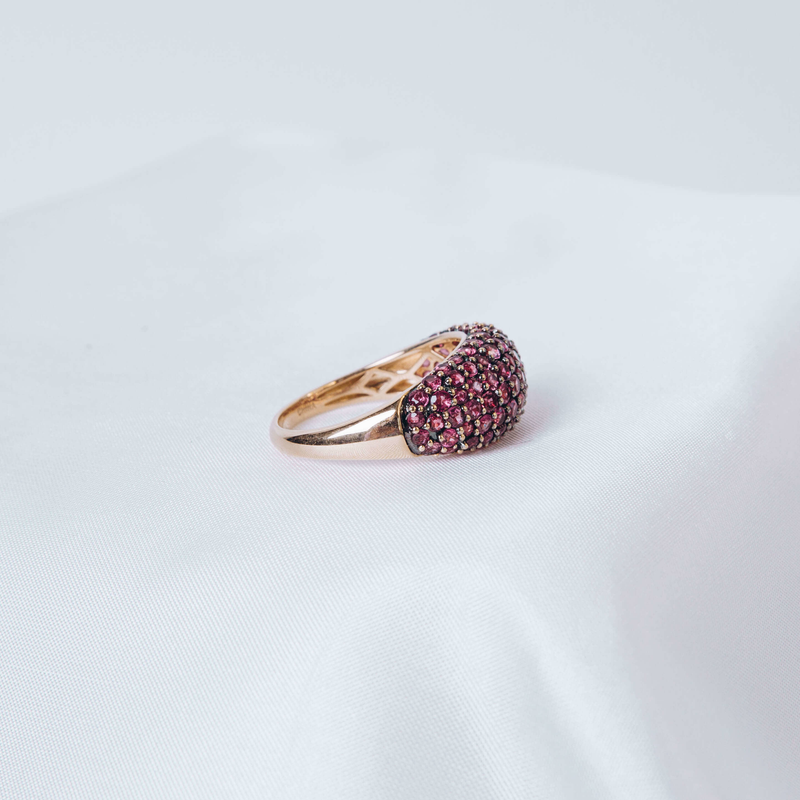 Pre-Owned Pink Sapphire Dome Ring