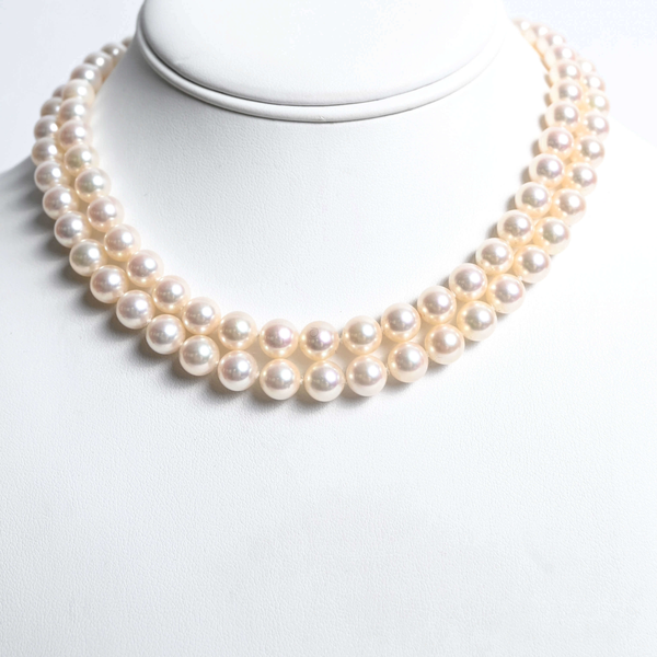 Pre-Owned Mikimoto Pearl and Diamond Choker