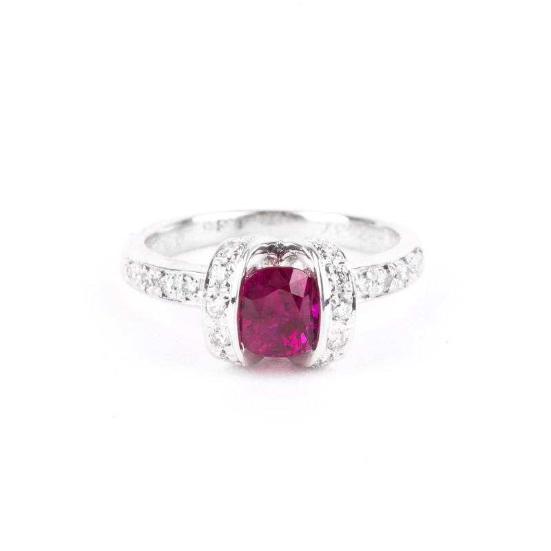 Pre-Owned Ruby & Diamond Ring