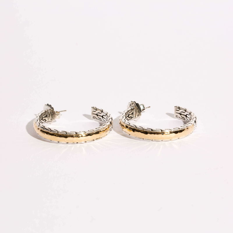 Pre-Owned John Hardy Palu Medium Hoop Earrings