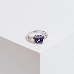Pre-owned Tanzanite and Diamond Ring