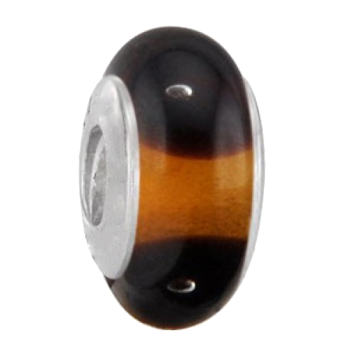 Chocolate Spot Murano Glass bead
