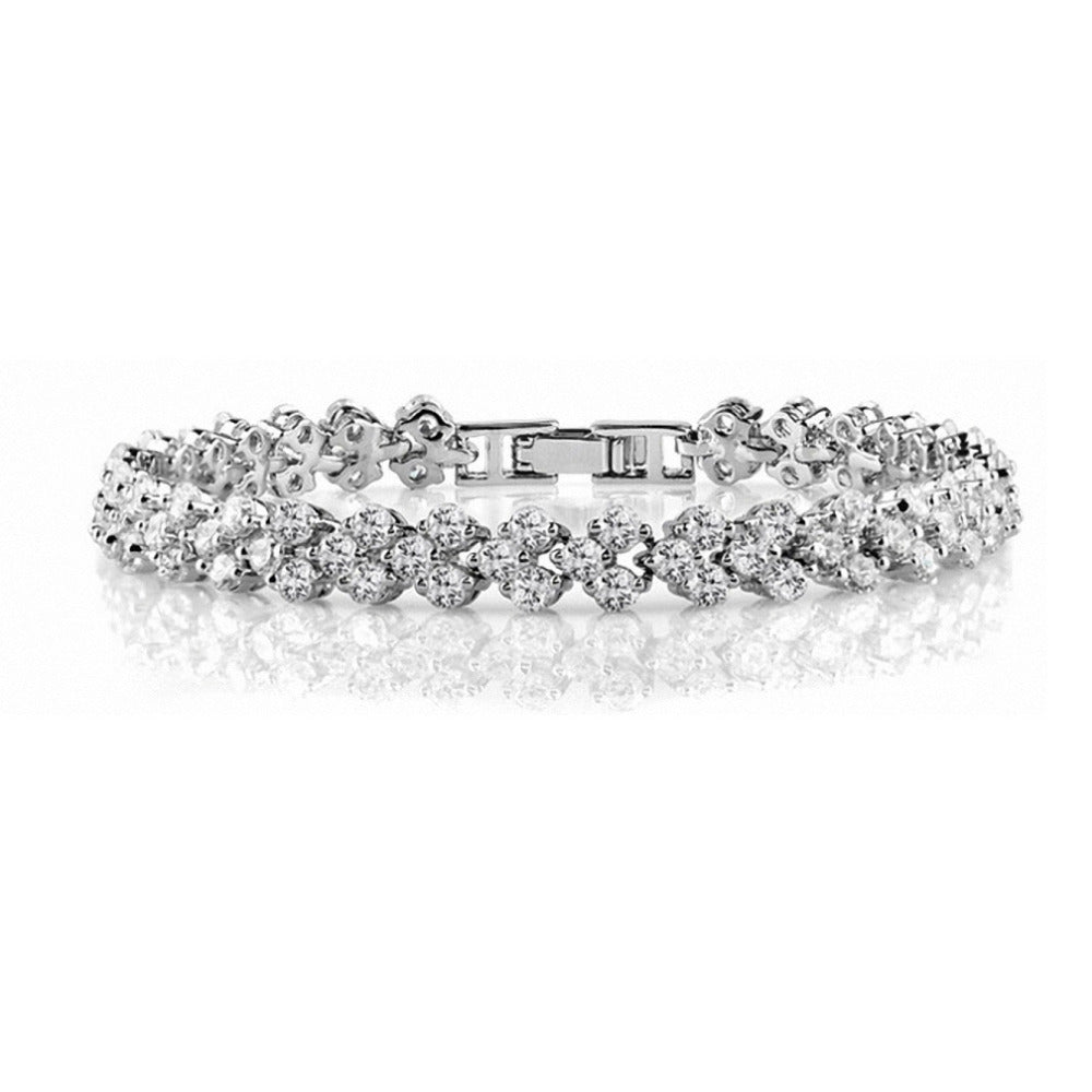Swarovski Elements Multi Row Bracelet