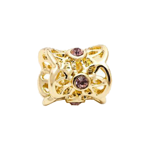 Gold Royal Charm with Crystals