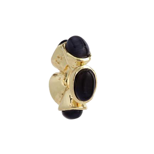 Circle of Black Pearls Charm