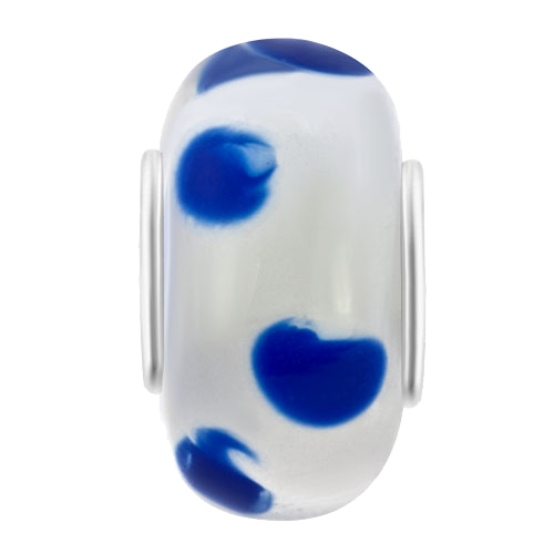 Blue Dot Murano Glass Bead