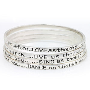 Live Love Sing Dance Message Bracelet