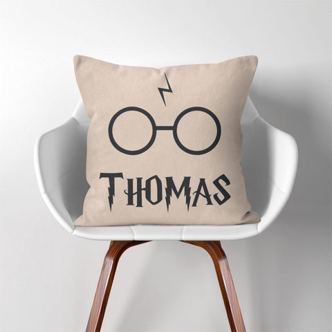 Personalised Harry Glasses Cushion