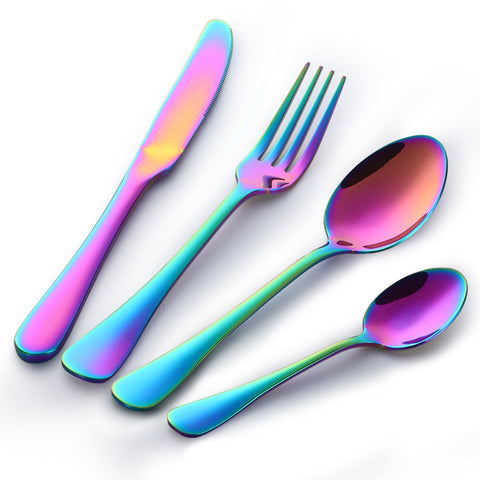 Luxury Rainbow Cutlery Set