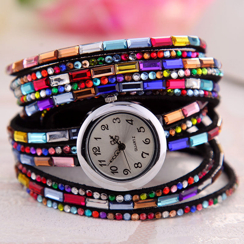 Crystal Vintage Wrap Watch