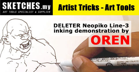 Artist Tricks - Art Tools : Neopiko Line-3 Inking by Oren