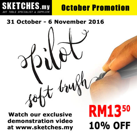 31 October - 6 November 2016 Promotion: Pilot Pocket Brush - Soft