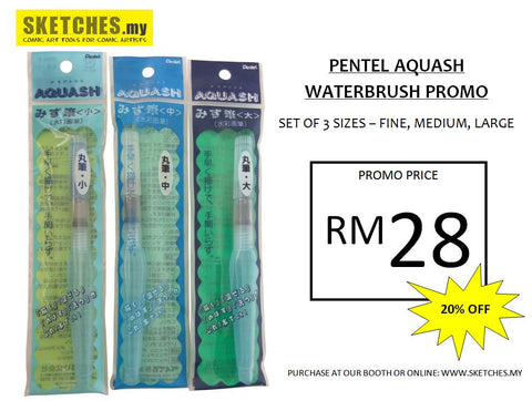 PENTEL Aquash Water Brush Promo 20% OFF
