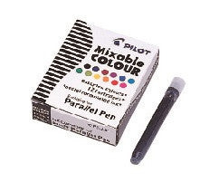 PILOT Ink Cartridge for Parallel Pen,12pc/BX-12 Col Assorted - Sketches