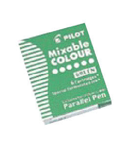 PILOT Ink Cartridge for Parallel Pen,6pc/BX-Green - Sketches
