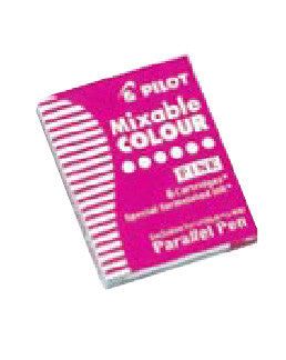 PILOT Ink Cartridge for Parallel Pen,6pc/BX-Pink - Sketches