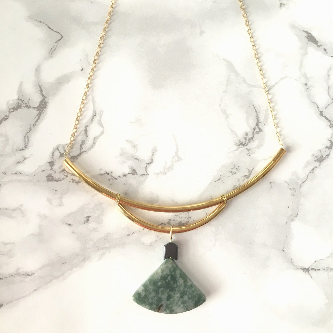Curved Triangle Necklace