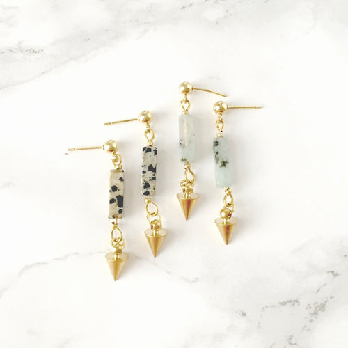 Jasper Spike Stud Earrings