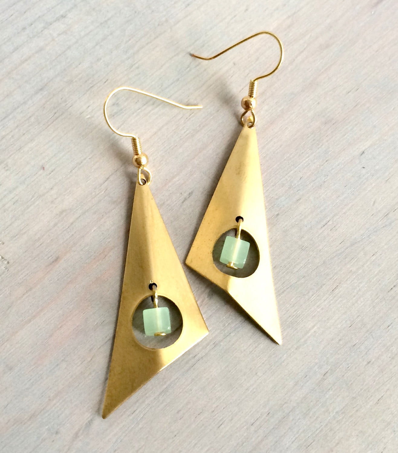 Asymmetrical Geometric Dangle Earrings