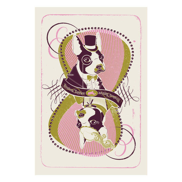 Boston Terrier Dog Breed Print