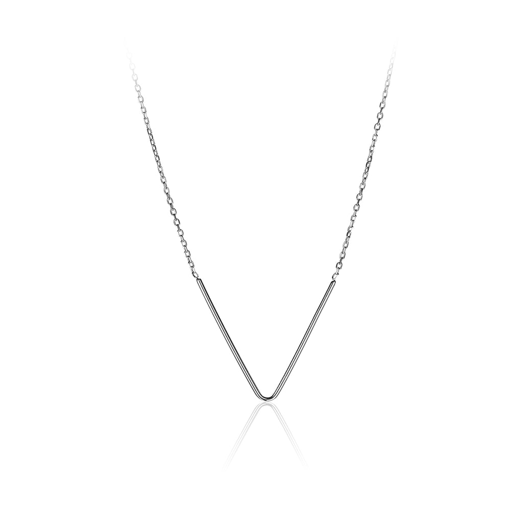 "Sterling Silver  ""V""Bar Pendant-72WP102-SS"