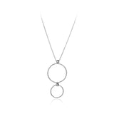 Double Circle Sterling Silver Pendant