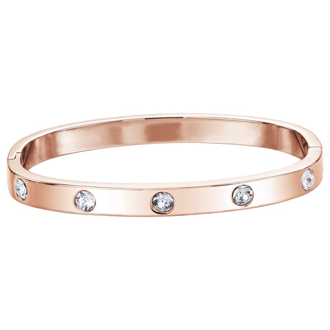 Swarovski Crystal Hinged Bangle