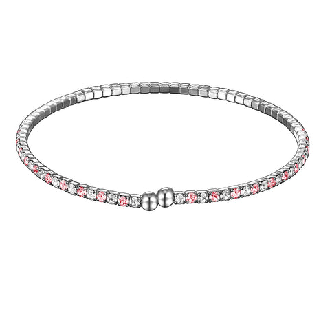 Single Row Collegiate Twistal Bracelet