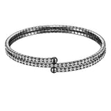 Double Row Twistal Crystal Bracelet