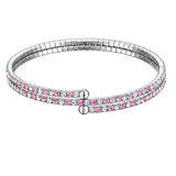 Double Row Collegiate Crystal Twistal Bracelet