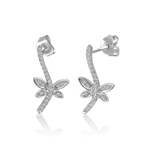 Stering Silver Butterfly Fashion Earrings