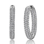 Sterling Silver 1 carat Pave Earrings