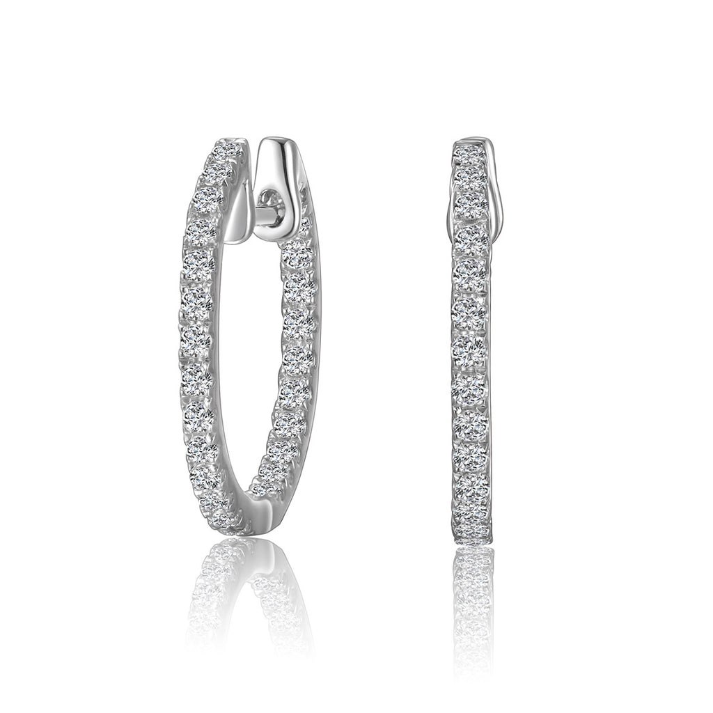 Sterling Silver Inside Out Hoop Earrings