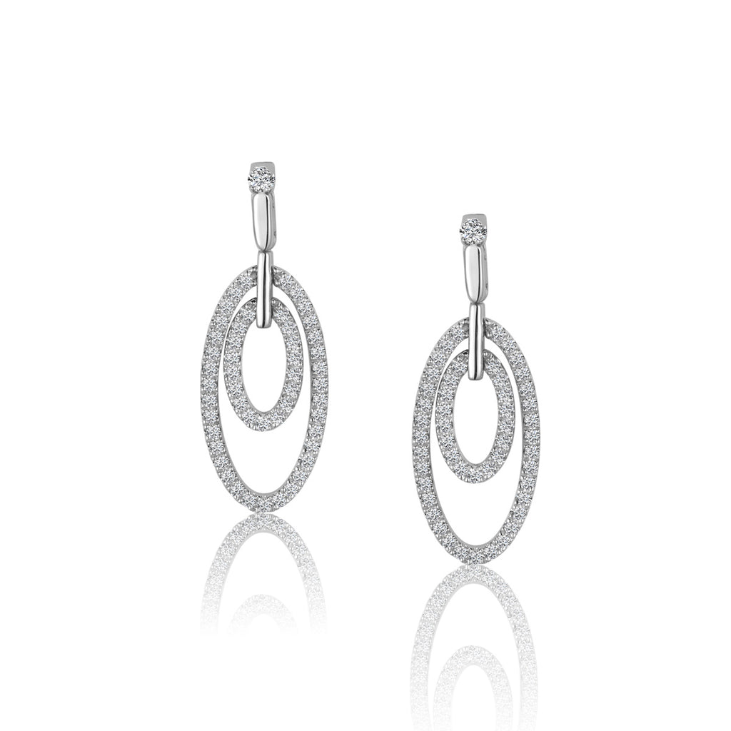 Sterling Silver CZ Fashion Earrings